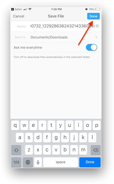 download instagram video iphone step 06