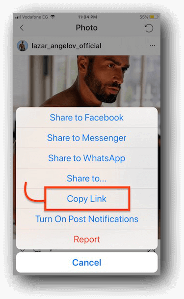 download instagram video steps