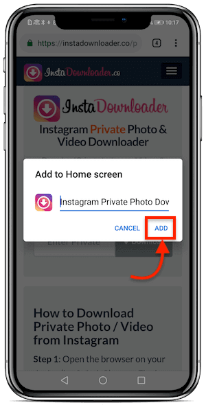 download instagram private photo android